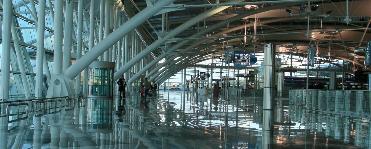 A 100 metros do terminal das chegadas